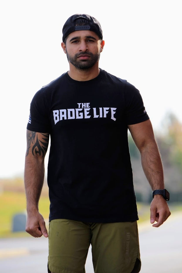 Thin Blue Line Black Shirt - The Badge Life