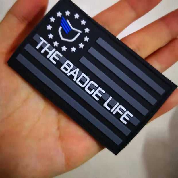 Thin Blue Line Flag Patch - The Badge Life
