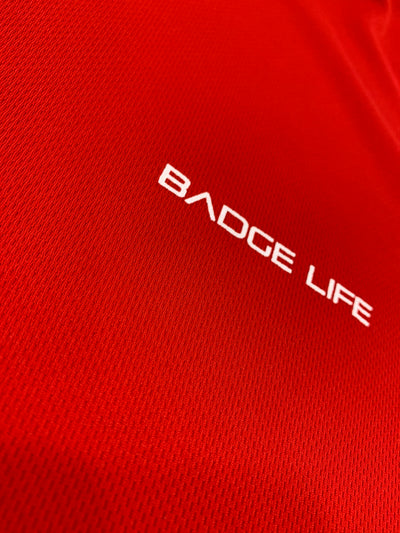 Red Ventilation Cool Shirt - The Badge Life