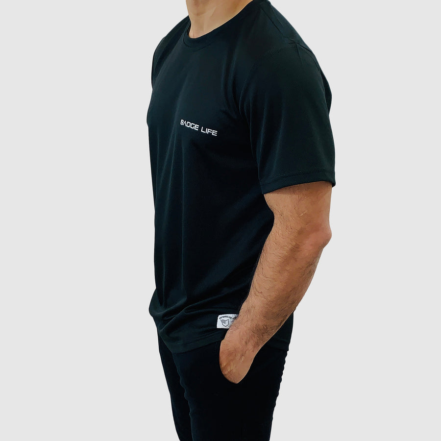 Black Ventilation Cool Shirt - The Badge Life