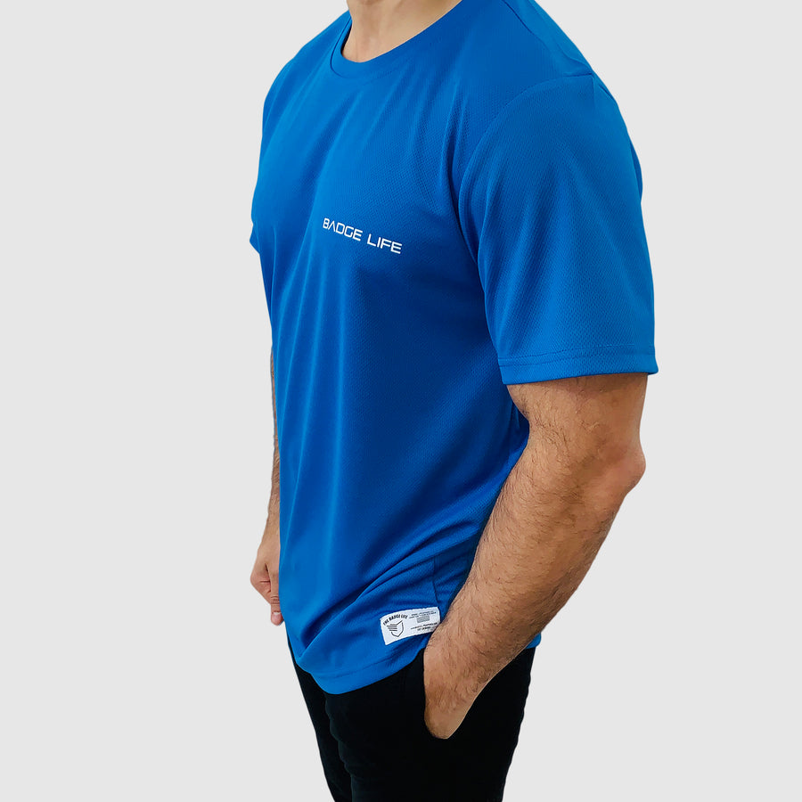 Blue Ventilation Cool Shirt - The Badge Life