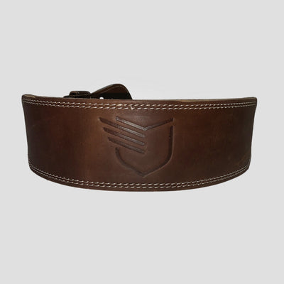 NEW! Genuine Buffalo Leather Weightlifting Brown Belt - The Badge Life