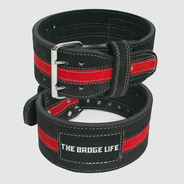 Thin Red Line Powerlifting Belt - The Badge Life