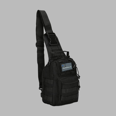 "Black MOLLE ""Go"" Bag - The Badge Life"