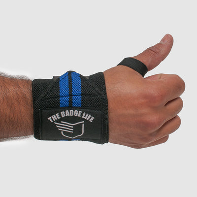 Thin Blue Line Lifting Wrist Wraps Set - The Badge Life