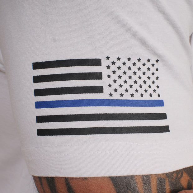 Thin Blue Line White Shirt - The Badge Life