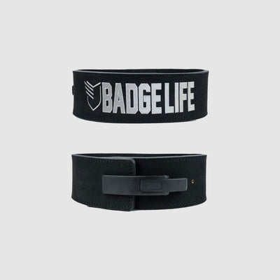 Matte Black Powerlifting Lever Belt - The Badge Life