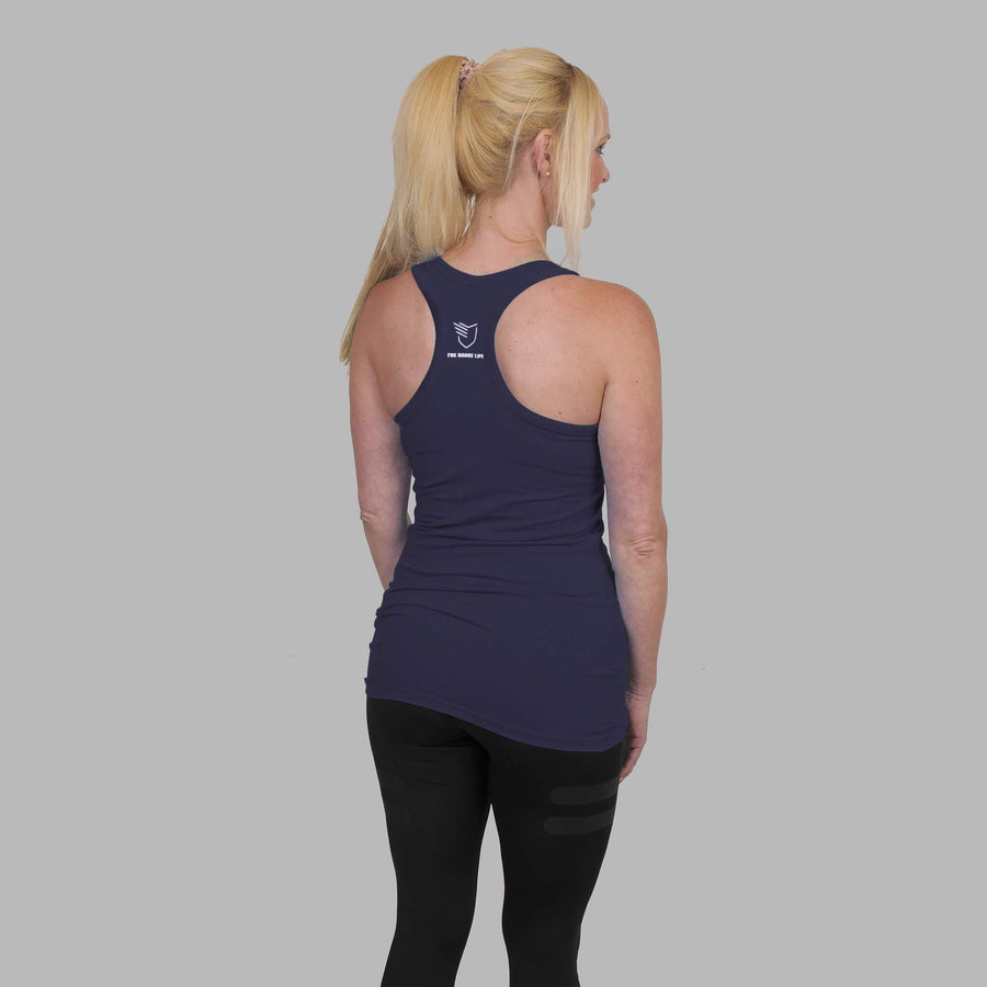 Warrior Racerback - Navy Blue - The Badge Life