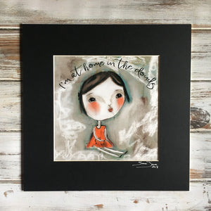 "At Home In The Clouds - Dear Girl Rosalee - Art Print 8"" x 8"""