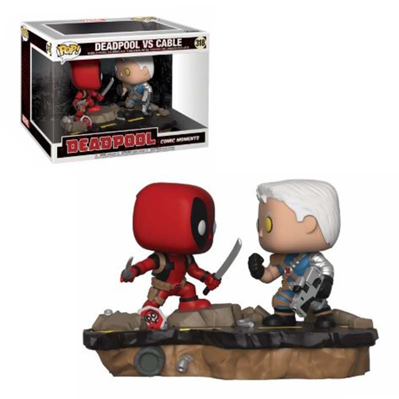 Funko Pop Deadpool Vs Cable Movie Moments