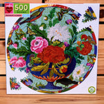 Bouquet and Birds 500pc Round Puzzle