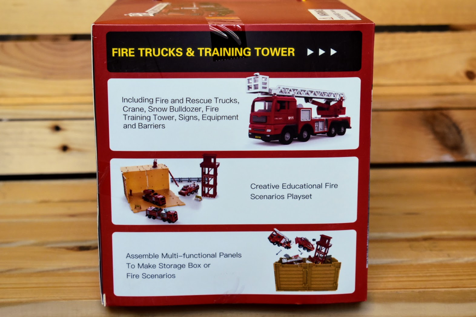 iPlay iLearn Fire Trucks and Training Tower