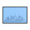 Toronto Skyline Framed photo paper poster - Blue on Sky Blue