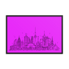 Toronto Skyline Framed photo paper poster - Black on Hot Pink