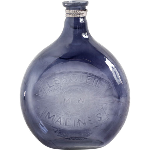 Mercana 30977 Caupona I (Large) Bottle, Blue, 15.94x12x5 - The Modern Farmhouse