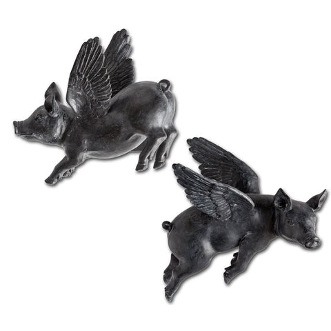 Mercana 44202 Hogbadi II (Set of 2) Wall Décor, Black, 10x6x12 - The Modern Farmhouse