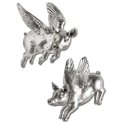 Mercana 44203 Hogbadi III (Set of 2) Wall Décor, Silver, 10x6.5x12 - The Modern Farmhouse