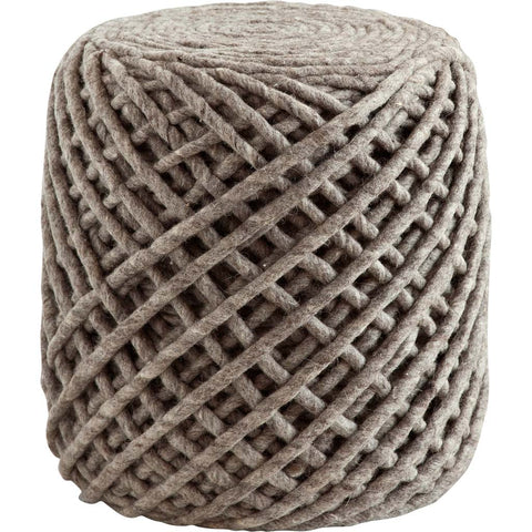 Mercana 50135 Petiolata V Pouf, Brown, 17x17x16 - The Modern Farmhouse