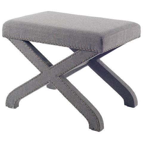 Mercana 50170 Albrecht I Bench, Grey, 21x17x27 - The Modern Farmhouse
