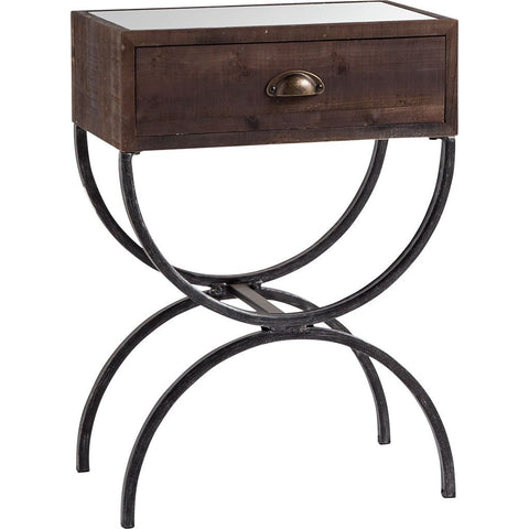 Mercana 50218 Strattanville Accent Table, Brown, 26x12x19 - The Modern Farmhouse
