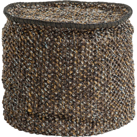Mercana 50260 Reliqua III Pouf, Brown, 17x18x18 - The Modern Farmhouse