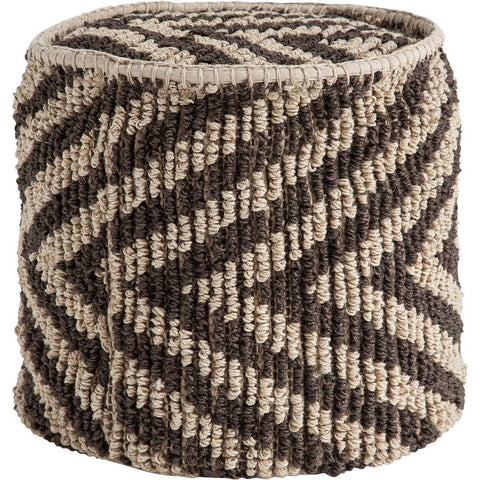 Mercana 50261 Reliqua V Pouf, Brown, 17x18x18 - The Modern Farmhouse