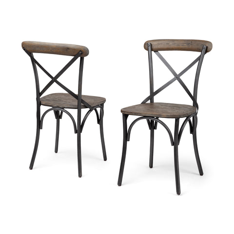 Mercana 50450 Etienne I (Set of 2) Dining Chair, Brown - The Modern Farmhouse
