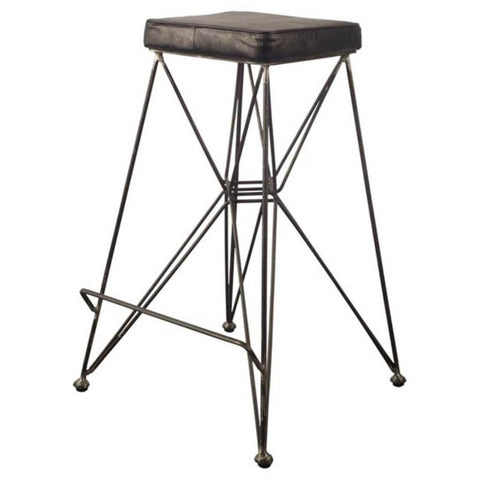 Mercana 50463 Filion II Bar Stool, Black, 30x18x18 - The Modern Farmhouse