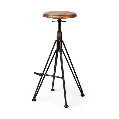 Mercana 50466 Finrod Bar Stool, Black, 26x15x16.3 - The Modern Farmhouse