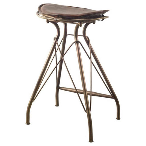 Mercana 50484 Orville I Bar Stool, Brown, 25x19x16 - The Modern Farmhouse