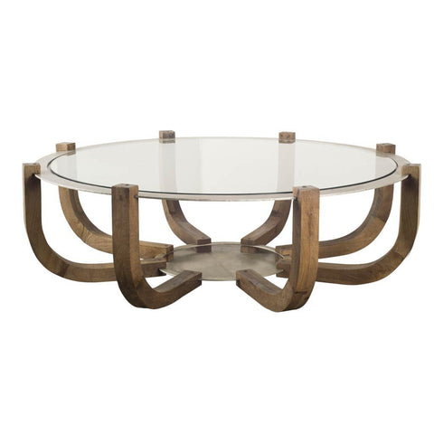 Mercana 50504 Ness Coffee Table, Brown - The Modern Farmhouse