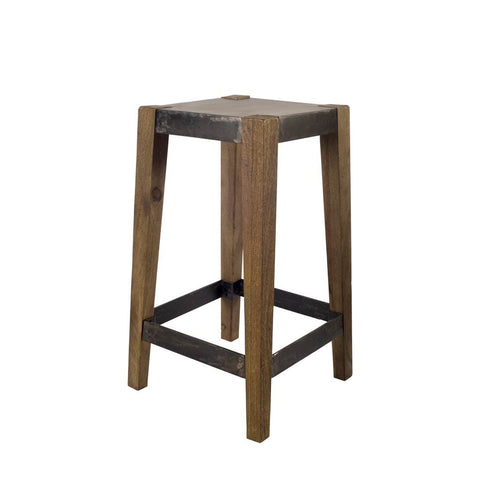 Mercana 50507 Nellie I Bar Stool, Brown, 26x13x13 - The Modern Farmhouse