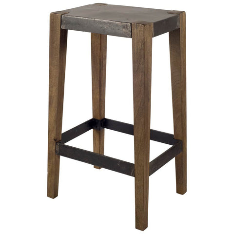 Mercana 50508 Nellie II Bar Stool, Brown, 30x12x16 - The Modern Farmhouse