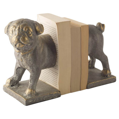 Mercana 57907 Marley II (Set of 2) Book Ends, Gold, 8x5x8.5 - The Modern Farmhouse