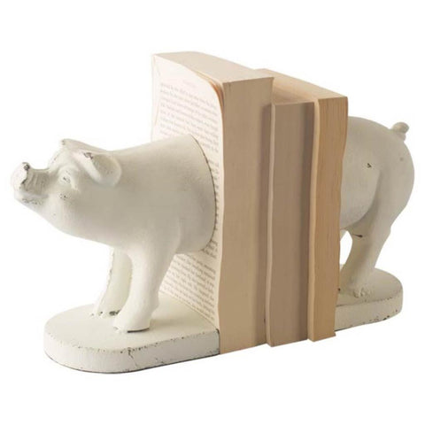 Mercana 57910 Wilber II (Set of 2) Book Ends, White, 6x3.5x9 - The Modern Farmhouse