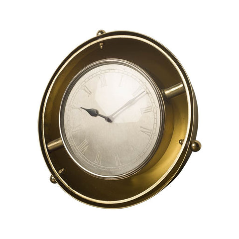 Mercana 63140 Sherway II (Medium) Wall Clock, Antique Gold - The Modern Farmhouse