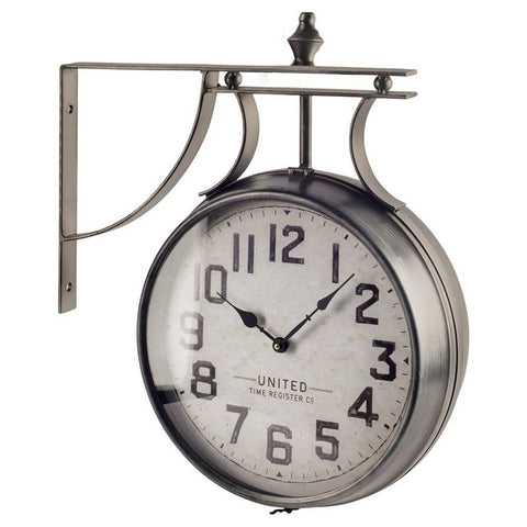 Mercana 63160 Lindsay Wall Clock, Silver, 21x5x19 - The Modern Farmhouse