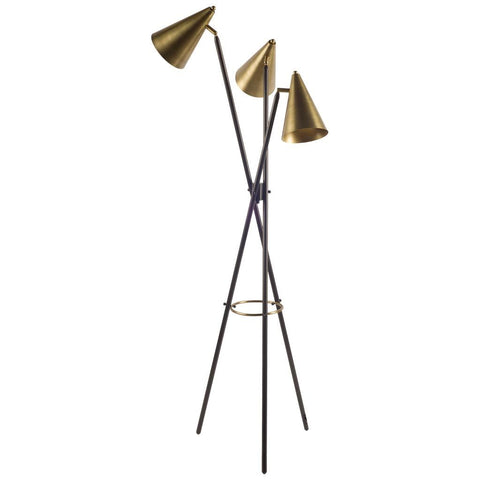 Mercana 67131 Triad I Floor Lamp, Black