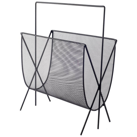 Mercana 67184 Mason Magazine Rack, Black, 18x13.5x7