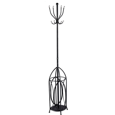 Mercana 67239 Keenan Coat Rack, Black