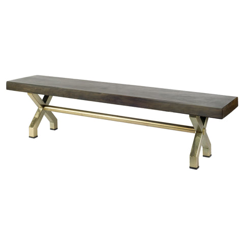 Mercana 67689 Arrow II Bench, Dark Walnut 71x16x18