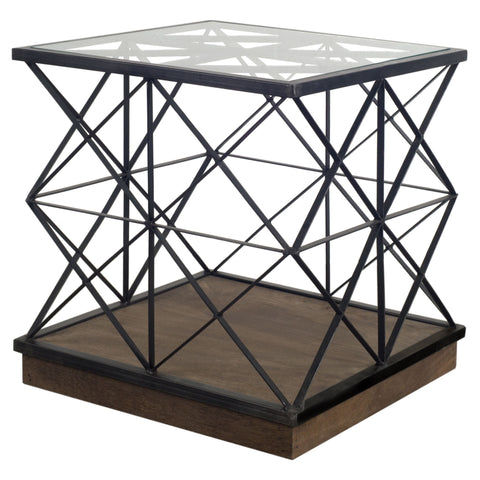 Mercana 67545 Cassandra II End and Side Table, Black, 20x18x18