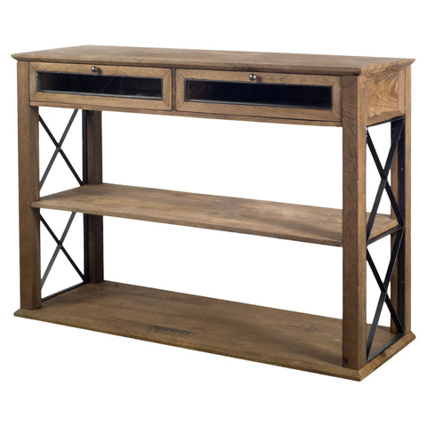 Mercana 67540 Eldorado V Console Table, Brown, 35x16x30
