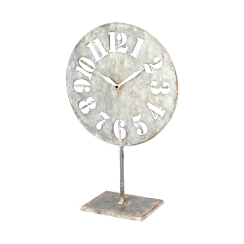 Mercana 67728 Prussia Table Clock, Silver, 18x5x12
