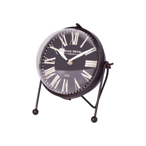 Mercana 67730 Caledonia Table Clock, Black, 9x8x7