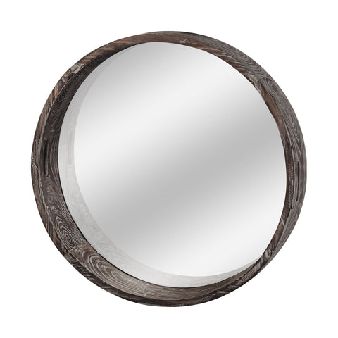 Mercana 37169 Whittier (Large) Wall Mirror, Brown, 28x28x5 - The Modern Farmhouse