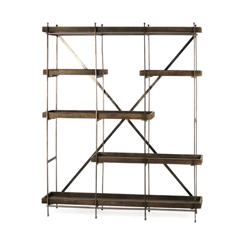 Mercana 67751 Sitka Shelving Unit, Brown