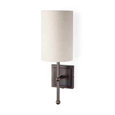 Mercana 67942 Bourgeois II Wall Sconce, White and Black, 16x9x6