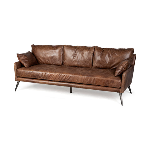 Mercana 67936 Cochrane II Leather Sofa, Brown