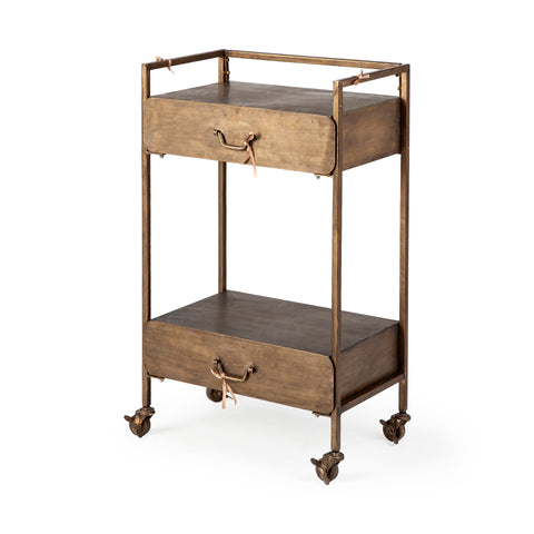 Mercana 67951 Alice Rolling Cart, Antique Gold